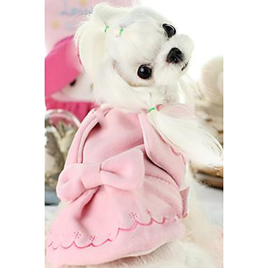 كلب سترة ملابس الكلاب كاجوال/يومي سادة زهري كوستيوم للحيوانات الأليفة