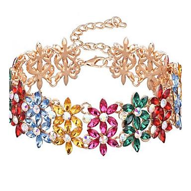 Pentru femei Coliere Choker Flower Shape Aliaj Cute Stil Supradimensionat Ajustabile Personalizat Bijuterii Pentru Scenă Concediu
