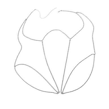 preiswerte Körperschmuck-Damen Körperschmuck Beinkette Gold / Silber Geometrische Form damas / Luxus / Bikini Strass Modeschmuck Für Party / Bühne / Strasse Sommer