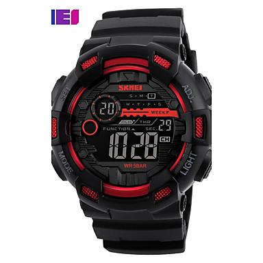 SKMEI Bărbați Quartz Ceas digital Ceas Sport Japoneză Alarmă Calendar Rezistent la Apă LED Iluminat Cronometru Zone Duale de Timp  PU