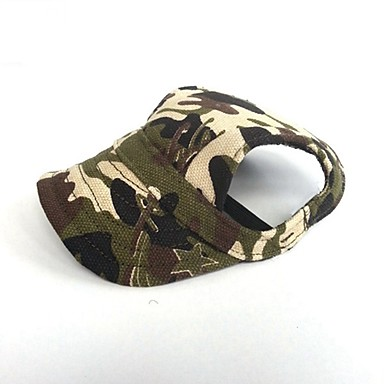 cheap Dog Clothing & Accessories-Cat Dog Bandanas & Hats Dog Clothes Solid Colored Camouflage Color Rainbow Leopard Canvas Costume For Spring &  Fall Summer Party Cowboy Casual / Daily