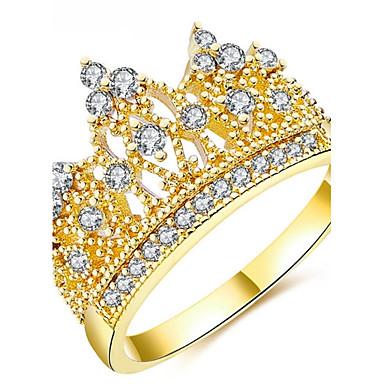 Pentru femei Verighete Zirconiu Cubic Personalizat Lux Clasic De Bază Sexy Iubire Modă Cute Stil Elegant Aliaj Crown Shape Bijuterii