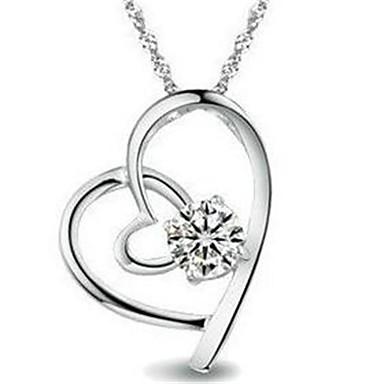 Dames Hangertjes ketting Kubieke Zirkonia Geometrische vorm Sterling zilver Modieus PERSGepersonaliseerd Sieraden Voor Bruiloft Dagelijks