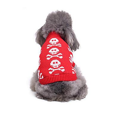 Pisici Câine Pulovere Îmbrăcăminte Câini Casul/Zilnic Os Costume Pentru animale de companie