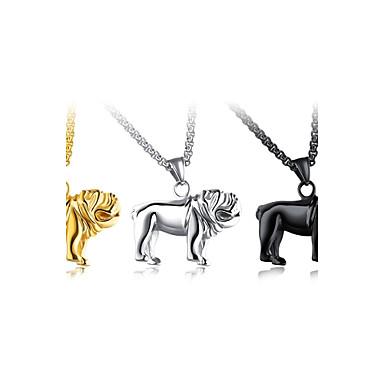 collier pendentif homme acier au titane chiens animal. Black Bedroom Furniture Sets. Home Design Ideas