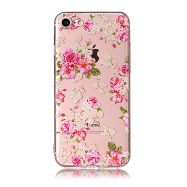 Maska Pentru Apple Model Carcasă Spate Floare Moale TPU pentru iPhone 7 Plus iPhone 7 iPhone 6s Plus iPhone 6 Plus iPhone 6s iphone 6