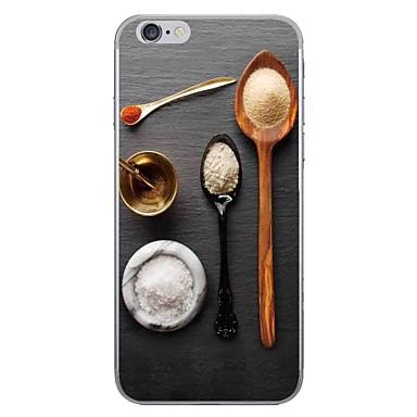 hoesje Voor Apple iPhone 7 Plus iPhone 7 Patroon Achterkant Voedsel Zacht TPU voor iPhone 7 Plus iPhone 7 iPhone 6s Plus iPhone 6s iPhone