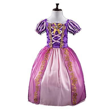 Prințesă DinBasme Cosplay Rochii Pentru copii Fete Crăciun Halloween Carnaval Festival / Sărbătoare Elastan Tactel Mov Costume de Carnaval Vintage