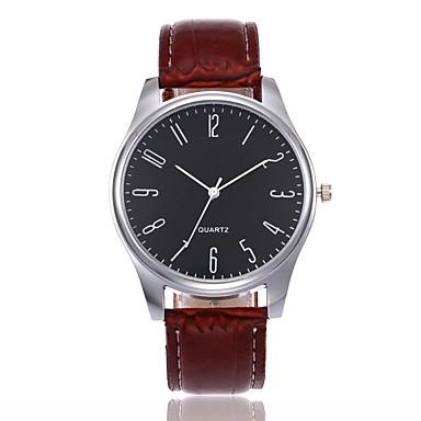זול שעוני גברים-בגדי ריקוד גברים שעון יד קווארץ עור שחור / חום אנלוגי יום יומי אופנתי אלגנטית אריסטו - שחור / חום שחור / לבן לבן / Beige