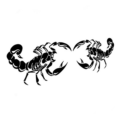28 * 17cm grappig de cartoon de Scorpion King auto sticker autoraam muurstickers auto styling (2 stuks)