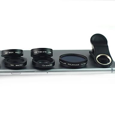Obiectivul telefonului mobil Lentile cu Filtru Lentile Fish-Eye Lentile cu Unghi Larg Lentilă Macro Aliaj de Aluminiu 10X și peste 175