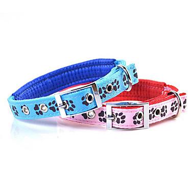 كلب ياقة المحمول قابلة للطى قابل للتعديل كلاسيكي نايلون أزرق زهري