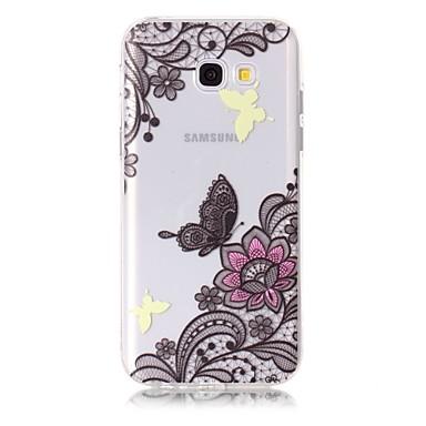 Hülle Für Samsung Galaxy A5(2017) A3(2017) Muster Rückseitenabdeckung Blume Weich TPU für A3 (2017) A5 (2017)