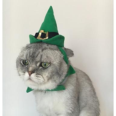 Pisici Bandane & Pălării Îmbrăcăminte Câini Petrecere Solid Verde
