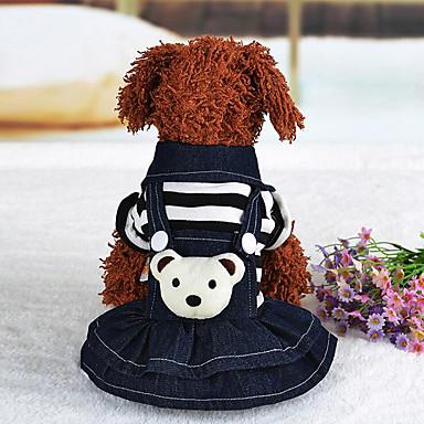 كلب حللا أربطة ملابس الكلاب كاجوال/يومي دب أسود أحمر كوستيوم للحيوانات الأليفة