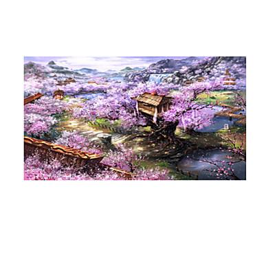 Legpuzzel Huis Bloem Puinen Anime Unisex Geschenk