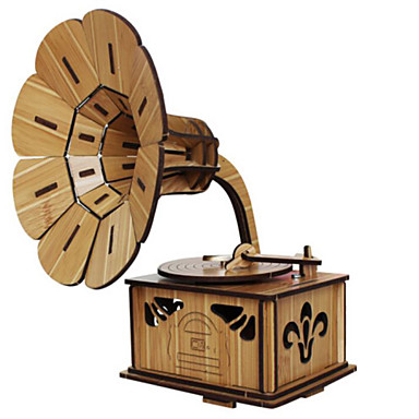 قطع تركيب3D تركيب النماذج الخشبية أخرى بيانو آلة الكمان أدوات الموسيقى حصان دائري 3D محاكاة خشب الخشب الطبيعي آلات موسقية آلعاب صبيان