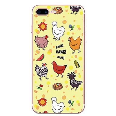 Hülle Für Apple Muster Rückseitenabdeckung Wort / Satz Tier Weich TPU für iPhone 7 plus iPhone 7 iPhone 6s Plus iPhone 6 Plus iPhone 6s