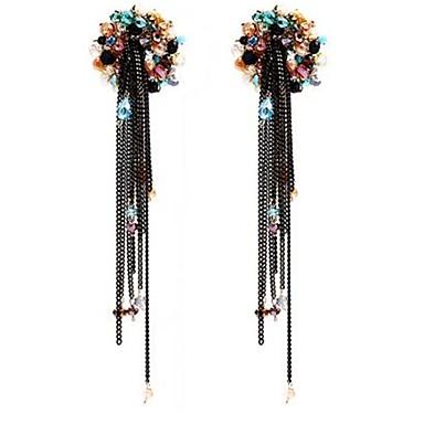 Pentru femei Cercei Stud Personalizat Confecționat Manual Supradimensionat Cristal Floare Bijuterii Pentru Alte Scenă Concediu Ieșire
