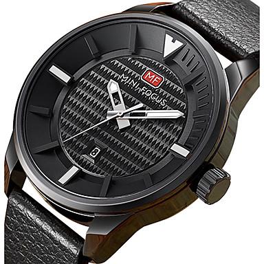 Bărbați Quartz Ceas de Mână Ceas Sport Calendar Piele Autentică Bandă Charm Lux Creative Casual Unic Watch Creative Elegant Modă Cool