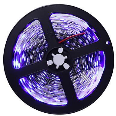 HKV 5 метров Гибкие светодиодные ленты 300 светодиоды 5050 SMD Тёплый белый / Белый / Синий Можно резать / Самоклеющиеся 12 V