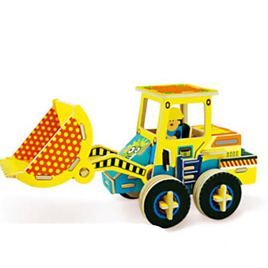 Jucării pentru mașini Puzzle 3D Puzzle Excavator De lemn Lemn natural Vehicul de Construcție Pentru copii Unisex Cadou