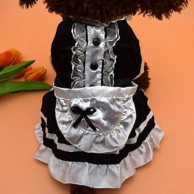 Hund Kostüme Kleider Hundekleidung Lässig/Alltäglich Schleife Schwarz Rot Kostüm Für Haustiere