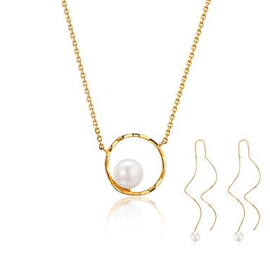 Pentru femei Cercei Picătură Lănțișor Imitație de Perle stil minimalist Modă Zilnic Plastic