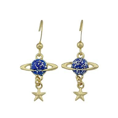 Pentru femei Bowknot Shape Αστέρι Diamant sintetic Ștras Cercei Picătură - De Bază Modă Adorabil stil minimalist Albastru Roz Rotund