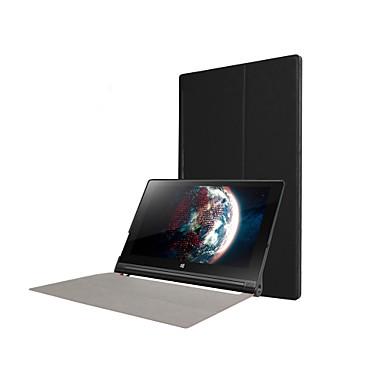 hoesje Voor Lenovo IdeaPad / Lenovo Full Body Cases / Hoezen Met Stand Volledig hoesje Effen Hard PU-nahka voor