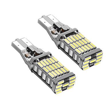 2pcs T15 Автомобиль Лампы 9W SMD 4014 900lm Светодиодные лампы Задний свет