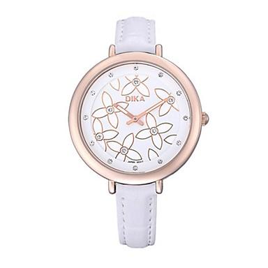Dames Modieus horloge Kwarts Waterbestendig PU Band Zwart Wit Rood Bruin Roze