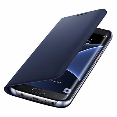 levne Galaxy S6 Pouzdra a obaly-Carcasă Pro Samsung Galaxy S8 Plus / S8 / S7 edge Pouzdro na karty / Flip Celý kryt Pevná barva Pevné PU kůže