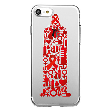Hülle Für Apple iPhone 7 Plus iPhone 7 Transparent Muster Rückseite Cartoon Design Weich TPU für iPhone 7 Plus iPhone 7 iPhone 6s Plus