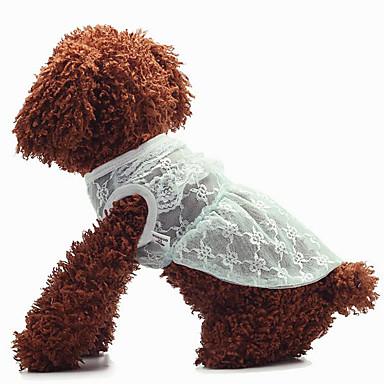 Hund Overall Geschirre Hundekleidung Solide Seide Kostüm Für Haustiere Sommer Herrn Damen Lässig / Alltäglich