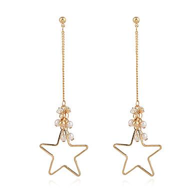 Damen Tropfen-Ohrringe Kreolen Personalisiert Luxus Modisch Simple Style Künstliche Perle Aleación Schmuck Party Geschenk Klub Ausgehen