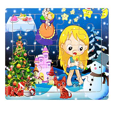 Puzzle Puzzle Lemn Jucării Educaționale Pisici Casă Desen animat Αστέρι Fruct desen animat în formă Other Lemn Anime Desen animat Unisex