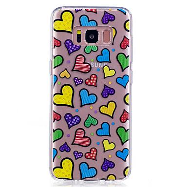 غطاء من أجل Samsung Galaxy S8 Plus S8 IMD شفاف نموذج غطاء خلفي قلب ناعم TPU إلى S8 S8 Plus