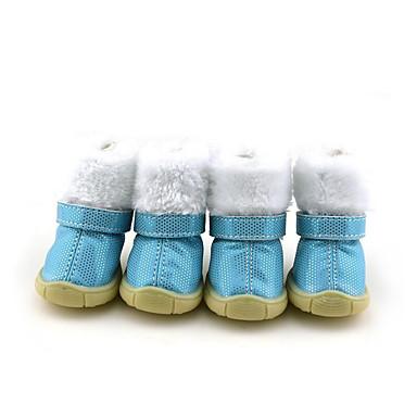 Câine Pantofi & Cizme Casul/Zilnic Impermeabil Keep Warm Buline Albastru Roz