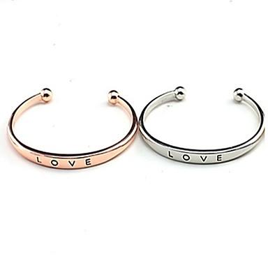 Pentru femei Brățări Bantă - Placat Auriu Personalizat, stil minimalist, Modă Brățări Auriu / Argintiu / Roz auriu Pentru Zilnic / Casual / Școală