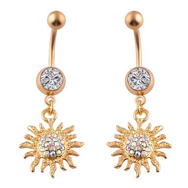 Floare Lux Zirconiu Inel inelar / Piercing pe burta - Pentru femei Auriu / Argintiu Lux / Punk / Rock Geometric Shape Bijuterii de corp