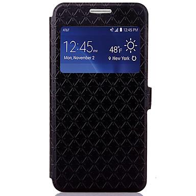 Hülle Für Samsung Galaxy Kreditkartenfächer mit Halterung Flipbare Hülle Geprägt Ganzkörper-Gehäuse Geometrische Muster Hart PU-Leder für