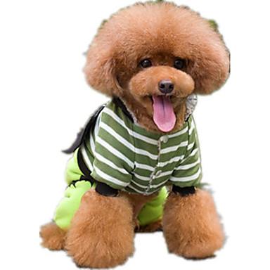 كلب حللا ملابس الكلاب كاجوال/يومي كارتون أحمر أخضر كوستيوم للحيوانات الأليفة