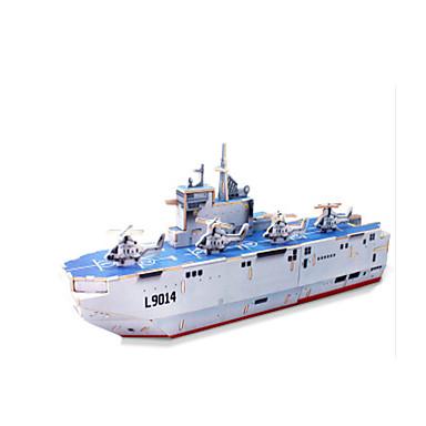 قطع تركيب3D تركيب النماذج الخشبية سفينة حربية سفينة اصنع بنفسك خشبي كلاسيكي للأطفال للجنسين هدية