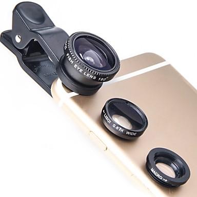 Obiectivul telefonului mobil Lentile Fish-Eye Lentile cu Unghi Larg Lentilă Macro 10X și peste