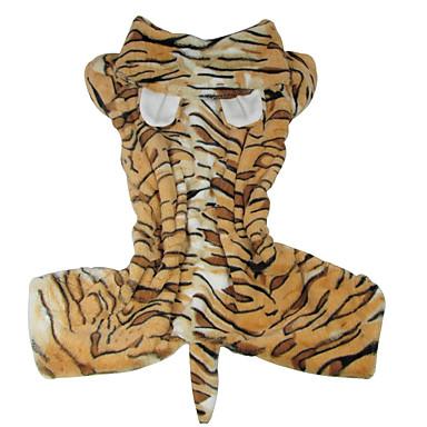 Hund Kostüme Hundekleidung Tier Braun Leopard Plüsch Kostüm Für Haustiere Herrn Cosplay