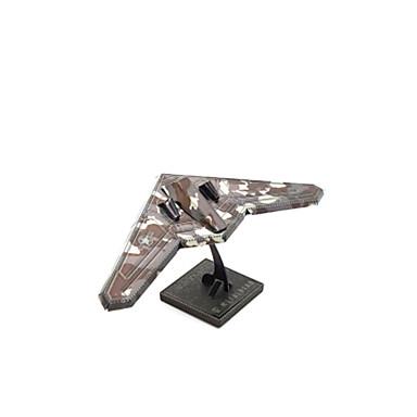 Holzpuzzle Metallpuzzle Flugzeug Kämpfer 3D Einrichtungsartikel Heimwerken Edelstahl Kupfer Metal Unisex Geschenk