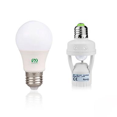 YWXLIGHT® 5 W 400-500 lm E27 Bulb LED Glob 10 LED-uri de margele SMD 2835 Decorativ / Senzor organism corporal Alb Cald / Alb 85-265 V