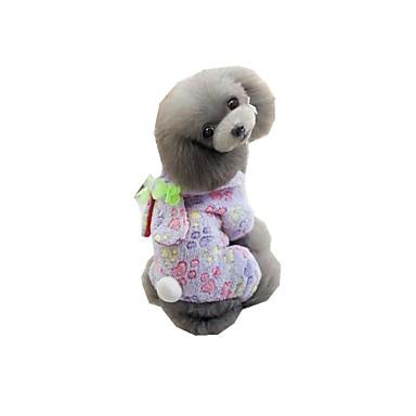 Hond Pyjama Hondenkleding Polka dot Paars Blauw Roze Polyesteri Kostuum Voor huisdieren Heren Dames Casual / Dagelijks