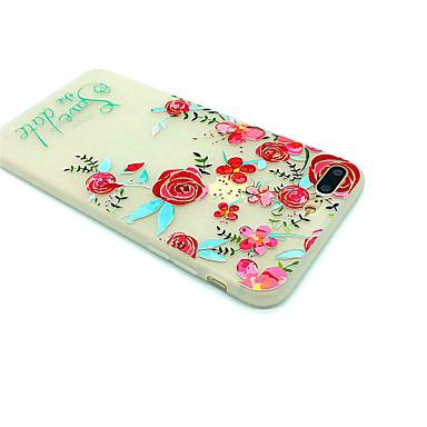 Caz pentru Apple iphone 7 plus 7 matte model embossed spate acoperire cuvânt frază floare moale tpu 6s plus 6 plus 6s 6
